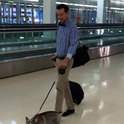How to walk your dog through the Philadelphia airport.