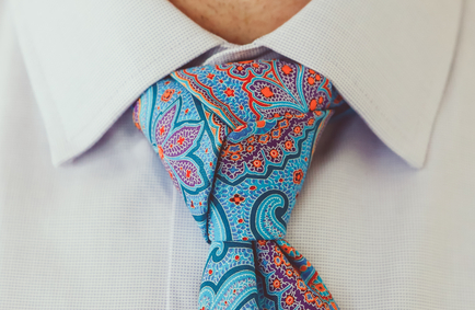 The Trinity Knot! Loved this tie and the knot.