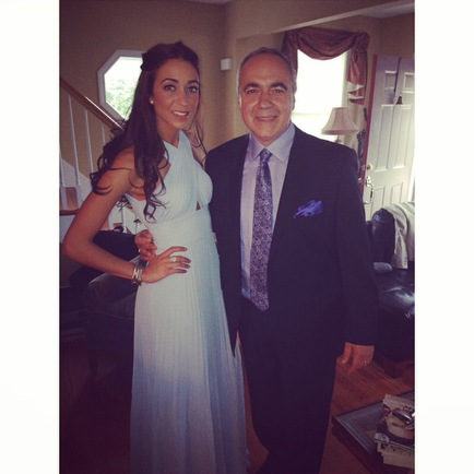 Wedding with dad